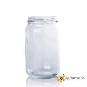 Pot en verre miel 378ml TO63 (500gr Haut)