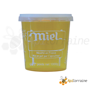Pot miel nicot plastique 1Kg