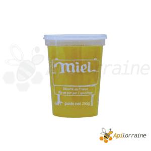 Pot miel nicot plastique 250gr