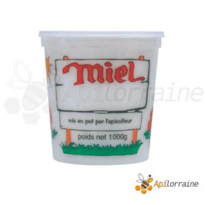 Pot miel nicot plastique 4 Couleurs 1Kg
