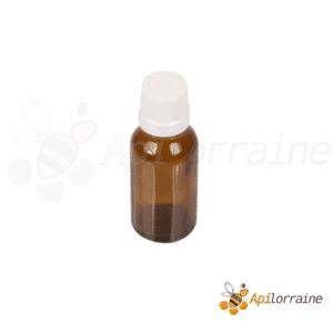 Flacon à propolis en verre brun avec compte-gouttes 10 ml à l'unité