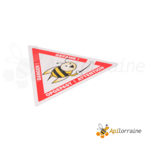 Panneau attention abeilles triangle