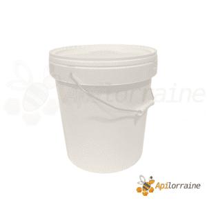 Seau plastique blanc 20 kg avce couvercle