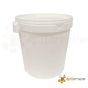 Seau plastique blanc 40 kg avec couvercle