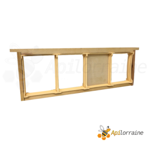 Section plastique miel en rayon grand modèle 105x130 - 4x sur cadres hausse dadant