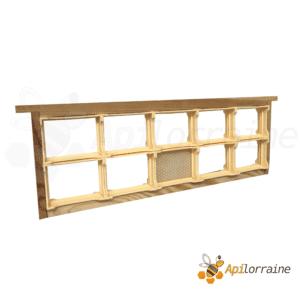 Section plastique miel en rayon grand modèle 65x84 - 10x sur cadres hausse dadant
