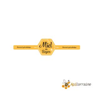 Etiquettes miel en rayon 340 x 30 mm le rouleau de 100