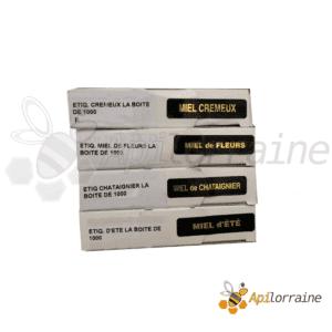 Étiquettes adhésive d'appellations rectangulaire - 12 x 50 mm - la boîte de 1 000