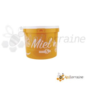 Seau alimentaire plastique couleur 3L ( 5kg miel )